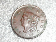 Old Us Large Copper Penny Cent Coin 1833 Xf