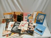 Collection Of 68 Vintage Recipe Booklets Pamphlets And Manuals 1940s - 1990s
