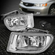 For 99-04 Honda Odyssey Clear Lens Front Bumper Driving Fog Light Lamp W/switch