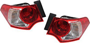 Fits 09-10 Ac Tsx Left And Right Set Tail Light Assemblies Outer Quarter Mounted