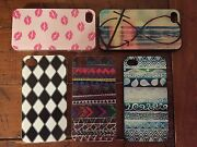 Lot Of 5 New Hard Plastic Back Skin Cover Cases For Iphone 4/4s.