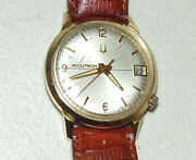 Working 1969 Bulova Accutron 2181 Time And Date Tuning Fork Men's Wrist Watch M9