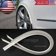 2 Pieces 47 White Arch Wide Body Fender Flares Extension Lip Guard For Dodge