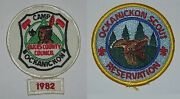 Ockanickon Scout Res Pa Lot Of 3 Pocket Patches + Year Strip Bsa 0085