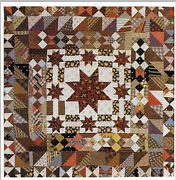 Antique Rare Collectible Framed American Patchwork Quilt Top Star In A Star