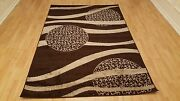 Rugs Area Modern Waves Design Contemporary Brown Color 5x7 Rug Carpets Flooring
