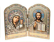 Christ The Teacher And Virgin Of Kazan Russian Orthodox Icon Diptych 8 Gift