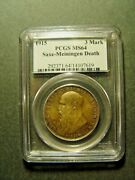 1915 Germany Saxe-meiningen 3 Mark Pcgs Ms64 Coin