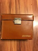 Old Fashioned Keystone Bel Air Movie Camera. Mint Condition With Leather Case