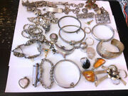 Assorted Ss/925 Wearable/resale/repairable Jewelry. Total Over 1000 Grams