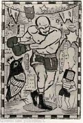 Tony Fitzpatrick 'the Lost Man', 1997 Signed Etching Limited Edition 6/40 New