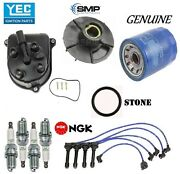 Tune Up Kit Cap Rotor Ngk Wires Spark Plug For Honda Prelude Si 2.3l 1992-1996