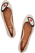 Rare Nwt Fendi Pink Bug Monster Leather Ballet Flats Size 35 Retail 590