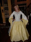 Renaissance Dress Wedding Gown White Queen Costume Medieval Lady Cosplay Custom