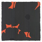 Donald Sultan And039black Poppiesand039 Signed Limited Edition Silkscreen W Flocking Print