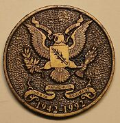 82nd Airborne 504th Parachute Infantry 50 Years 1942-1992 Army Challenge Coin
