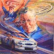 The Ageless Mark Martin Signed Original George Bartell Watercolor Pen And Ink