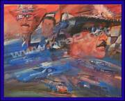The King Richard Petty Original George Bartell Watercolor, Pen, And Ink Art