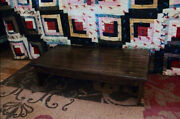 Handcrafted Heavy Duty Bed Wooden Bedside Step Stool 14 Extra Deep 24 L 5 H