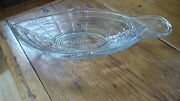 1874 Eapg Early American Pattern Glass Pickle Boat Clear Glass Boat Shaped