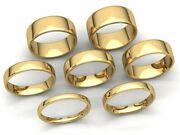Comfort Fit Eurodome Wedding Band Ring Mens Womens 2mm-8mm Solid 18k Yellow Gold