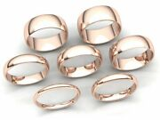 Dome Comfort Fit Band Ring Mens Women 2mm 3mm 4mm 5mm 6mm 7mm 8mm Solid 18k Gold