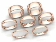 Milgrain Dome Comfort Fit Wedding Band Ring Mens Womens 2mm-8mm Solid 18k Gold