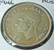 Canada 1946 1 Silver Dollar Variety Missing Northerns Light Rare Unlisted
