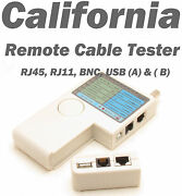 Remote Network Cable Tester Rj11telephone 6p6c Phone Rj45 Cat5 Cat6 Cat7 Switch