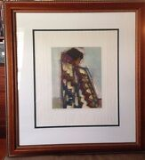 Colcha De Colors Monoprint, Hand Colored By Amado Pena, Museum Matted And Framed