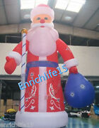 8m High Inflatable Christmas Santa Claus Decoration For Christmas With Blower