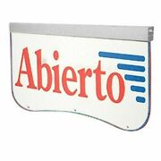 Actiontek Acrylic Led Sign Abierto Open In Spanish Bright Display