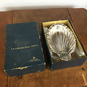 Antique Vtg F.b. Rogers Silverplate Candy Bowl Dish Nos With Box Shell Silver