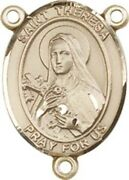 14kt Gold Filled Saint Theresa Rosary Centerpiece Medal, 3/4 Inch