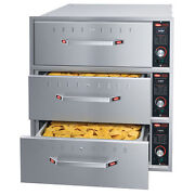 Hatco Hdw-3bn Built-in Narrow Warming Drawer With 3 Drawer And 6 Deep Food Pan