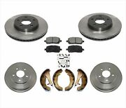For 09-10 Cobalt 5 Lug Cars Only Stop Look With Rear Drums Frt Rotors And Pads 7pc