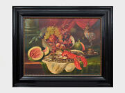 Magnificent Still Life Painting Audorf Edward Huber - American Painter Signed