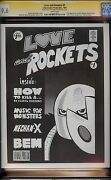 Love And Rockets 1 Cgc 9.6 White 1981 Signature Series With Hernandez Sketch