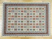 10and039x14and039 Handknotted High And Low Pile Neem Buft Soumak Oriental Rug G32070