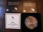 2011-p Np10 Chickasaw America The Beautiful 5oz Silver Coin