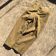 Vintage Antique Gas Flap Wool Military Wwii Army Usmc Pants Button Fly 31 31