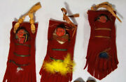 Vintage Lot Of 3 1950and039s Era Skookum Papoose Native American Indian Baby Dolls