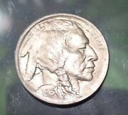 Us Buffalo Nickle Coin First Year 1913 Type 1 Unc