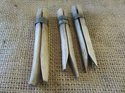 Rare Vintage Set Of 3 Wooden Clothespins Antique Old Laundry Clothes Pin 9691