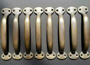 8 Solid Brass Large Strong File Cabinet Trunk Chest Handles Pull 5-1/2 Wide P1