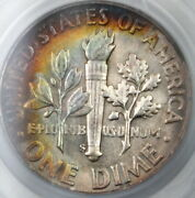 1952-s Silver Roosevelt Dime 10c Pcgs Ms-66 Nicely Toned A