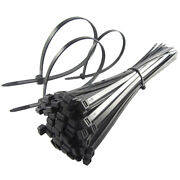 Quality Black Cable Ties / Zip Wraps Short Long Thick Thin Narrow Small Fastener