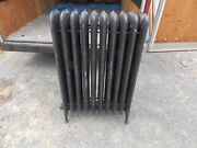 Antique Steam Radiator 10 Sections Cast Iron Old Plumbing Heating 2337-16 5