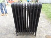 Antique Steam Radiator 10 Sections Cast Iron Old Plumbing Heating 2338-16 6