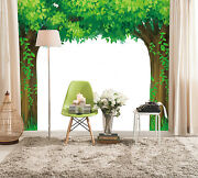 3d Couple Tree Green Wall Paper Wal Print Decal Wall Deco Indoor Wall Mural